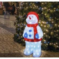 Акриловая светодиодная фигура «Снеговик в синих варежках»