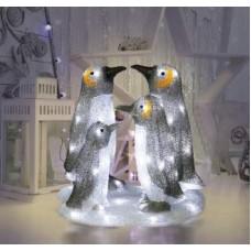 Акриловая светодиодная фигура «Семья пингвинов»